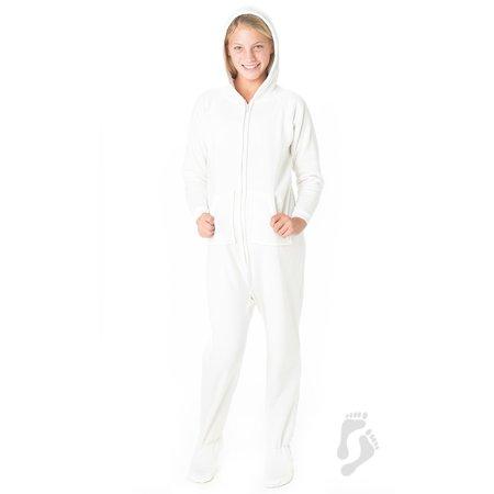 474fec5cb Footed Pajamas - Footed Pajamas - White Frosting Kids Hoodie Onesie -  Walmart.com