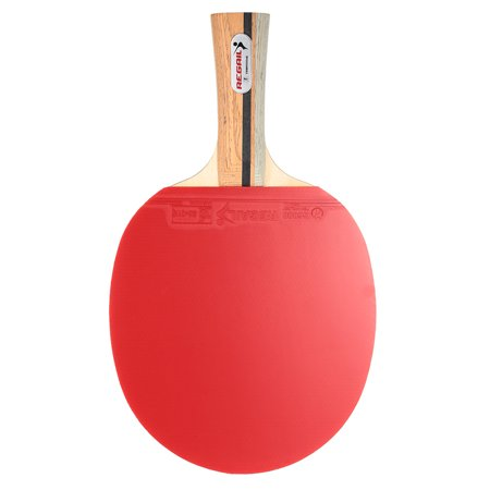 Wooden Handle Table Tennis Racket Ping Pong Paddle Bat Blade Shakehand Grip Racket with Carrying Bag