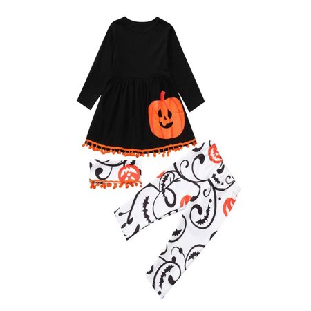 Mosunx Toddler Baby Infant Girls Pumpkin Dresses Pants Halloween Costume Outfits Set - Baby Pumpkin Halloween Outfits