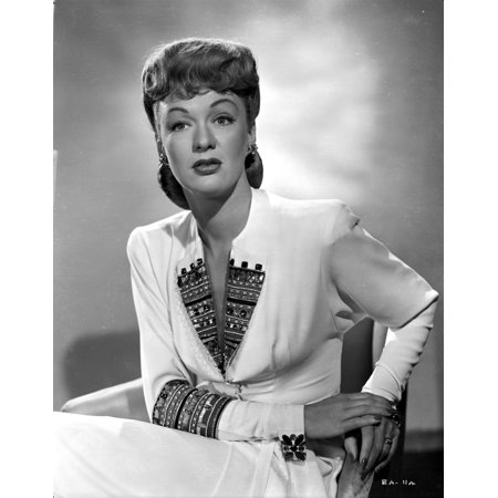 Eve Arden on Long Sleeve Dress sitting on Chair Portrait Photo Print