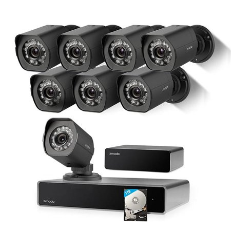 Zmodo ZS-1008-B 8 Channel 720p NVR Simplified PoE Outdoor Indoor Security Camera System