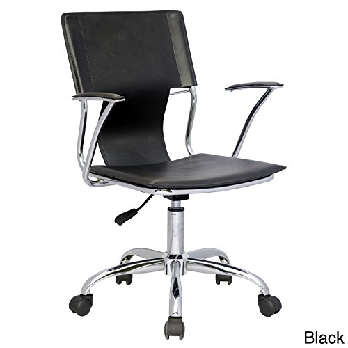 Somette Pneumatic Gas Lift Swiveling Office Arm Chair Chrome/White