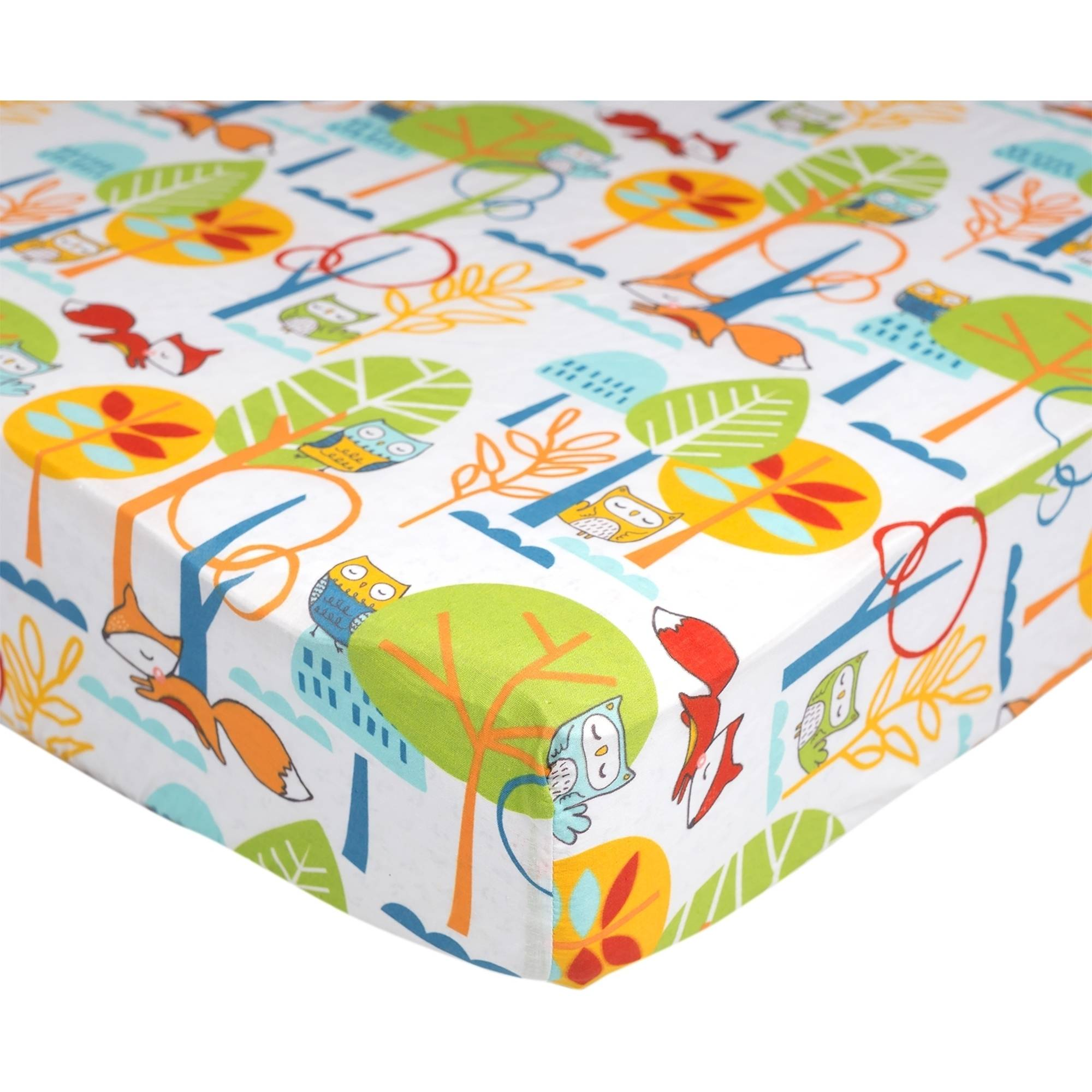 Poppi Living Forest Premium Cotton Fitted Crib Sheet