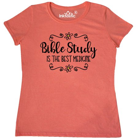 Inktastic Bible Study Best Medicine Women's T-Shirt Christian Jesus Godly Woman