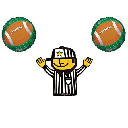 Football Referee Game Day Birthday Party Balloons Decorations Supplies Field - Football Field Supplies