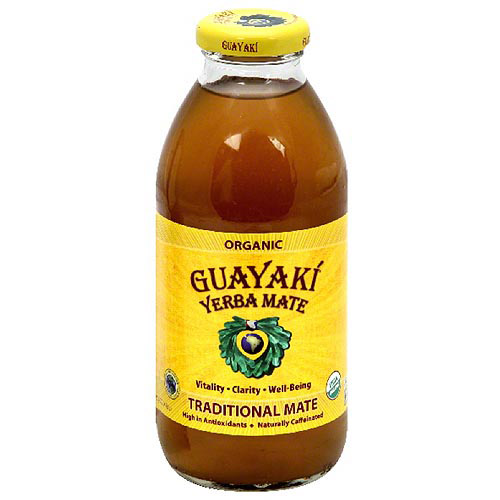 Guayaki Yerba Mate Traditional Mate Dietary Supplement, 16 fl oz, (Pack of 12)