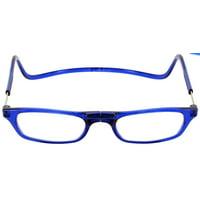 CliC Reader Single Vision Half Frame, Blue, + 1.25