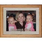 5X7 Jumbo ~ Mommy's Girls Landscape Picture Frame ~ Laser Cut Cream Marbled Matboard (Lightmedium)