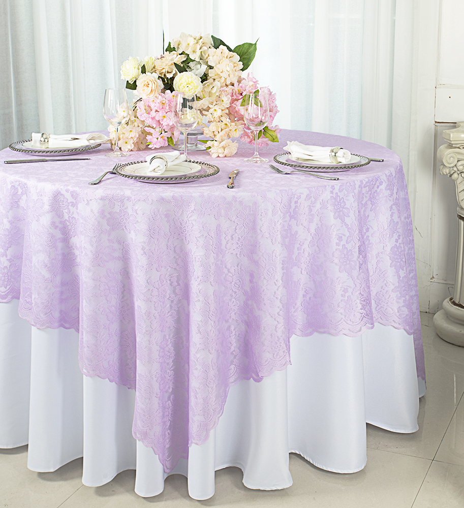 Wedding Linens Inc. 72 In X 72 In Lace Table Overlays, Lace Tablecloths  Square, Lace Table Overlay Linens, Lace Table Toppers For Wedding  Decorations, ...