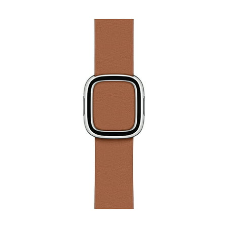 Apple Watch 40mm Saddle Brown Modern Buckle - Large