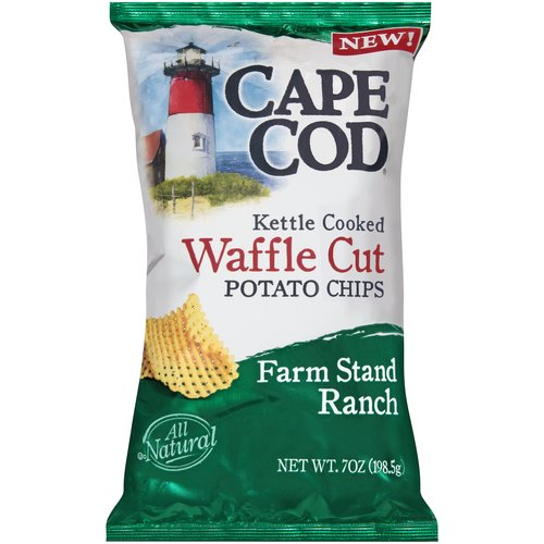 Cape Cod Farm Stand Ranch Waffle Cut Kettle Cooked Potato Chips, 7 oz