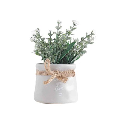 Joyfeel 2019 Hot Sale Small Artificial Faux Greenery Plants Bathroom Home Office Decoration Fake Simulation Pots
