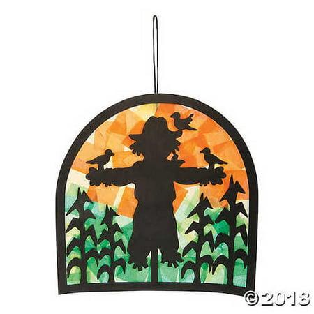 Scarecrow Scene Tissue Paper Craft Kit (Scarecrow Crafts)