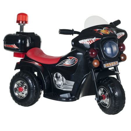 Ride on Toy, 3 Wheel Motorcycle for Kids, Battery Powered Ride On Toy by Hey! Play! – Ride on Toys for Boys and Girls, Toddler - 4 Year Old, Black - Ride On Toys For 4 Year Olds