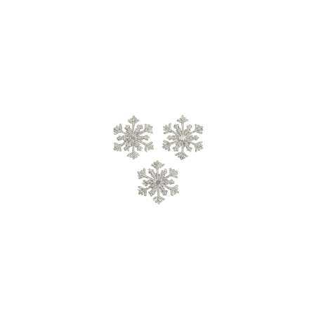 Expo Int'l Christmas Small Branch Snowflake Iron-on Applique Pack of 3 (Snowflake Applique)