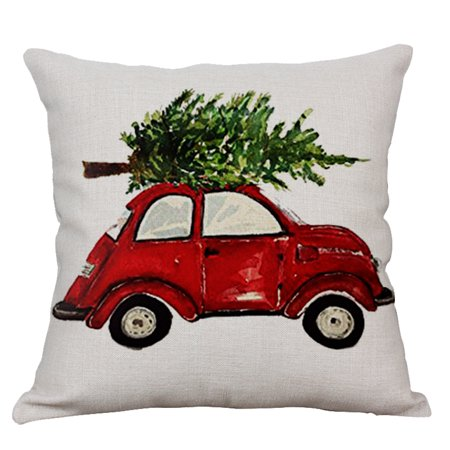 Christmas Pillow Case,Justdolife Fashion Car Print Decorative Throw Pillow Cover Cushion Cover for Home Decor ()