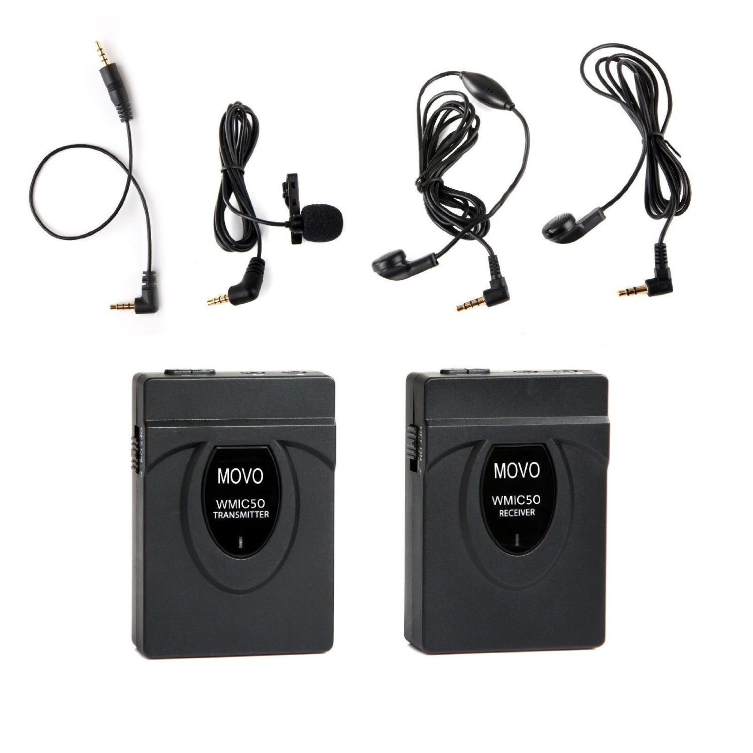 Movo WMIC50 2.4GHz Wireless Lavalier Microphone System with Integrated 164-foot Range... by Movo