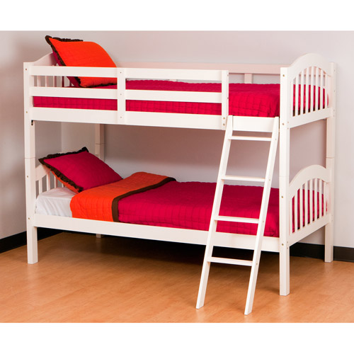 Storkcraft Long Horn Twin-Over-Twin Bunk Bed, White