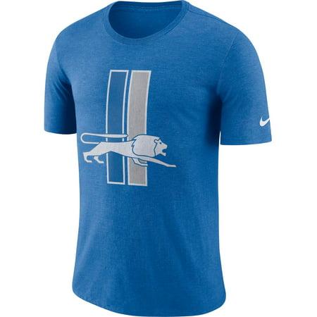 Nike Men's Detroit Lions Historic Crackle Tri-Blend Blue T-Shirt