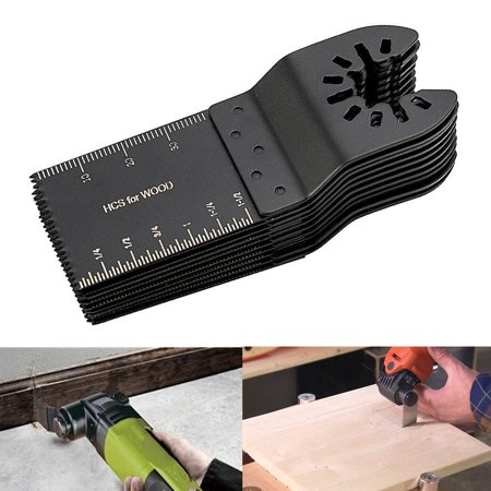 TSV 10 Wood/Metal Professional Oscillating Multi Tool Quick Release Saw Blades for Fein Multimaster, Dremel Multi-Max, Dewalt, Craftsman, Ridgid, Makita, Milwaukee, Rockwell, Ryobi, and
