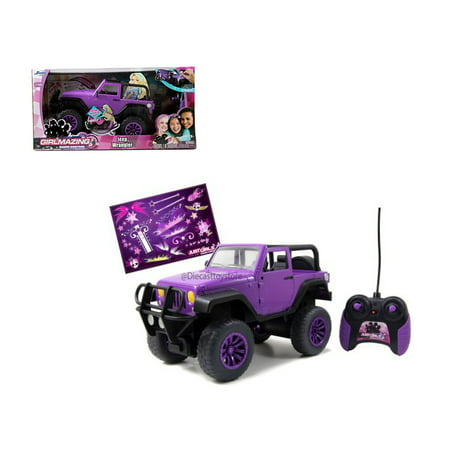 Jada 1 16 Radio Control Girlmazing Jeep Wrangler Purple 96962 Mj