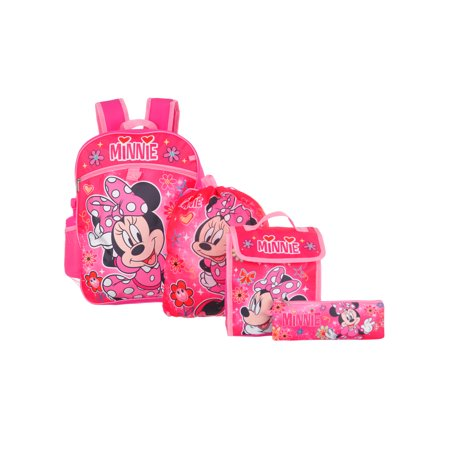 Disney Minnie Mouse 5-Piece Backpack Set (Minnie Mouse Luggage)