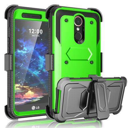 Tekcoo LG K30 Case, For LG K10 2018 Case/LG Premier Pro LTE/K10 Alpha Case, Heavy Duty Built-in Screen Protector Rugged Holster Locking Belt Swivel Clip Kickstand Hard Shell Cover (Best Clip Lights)