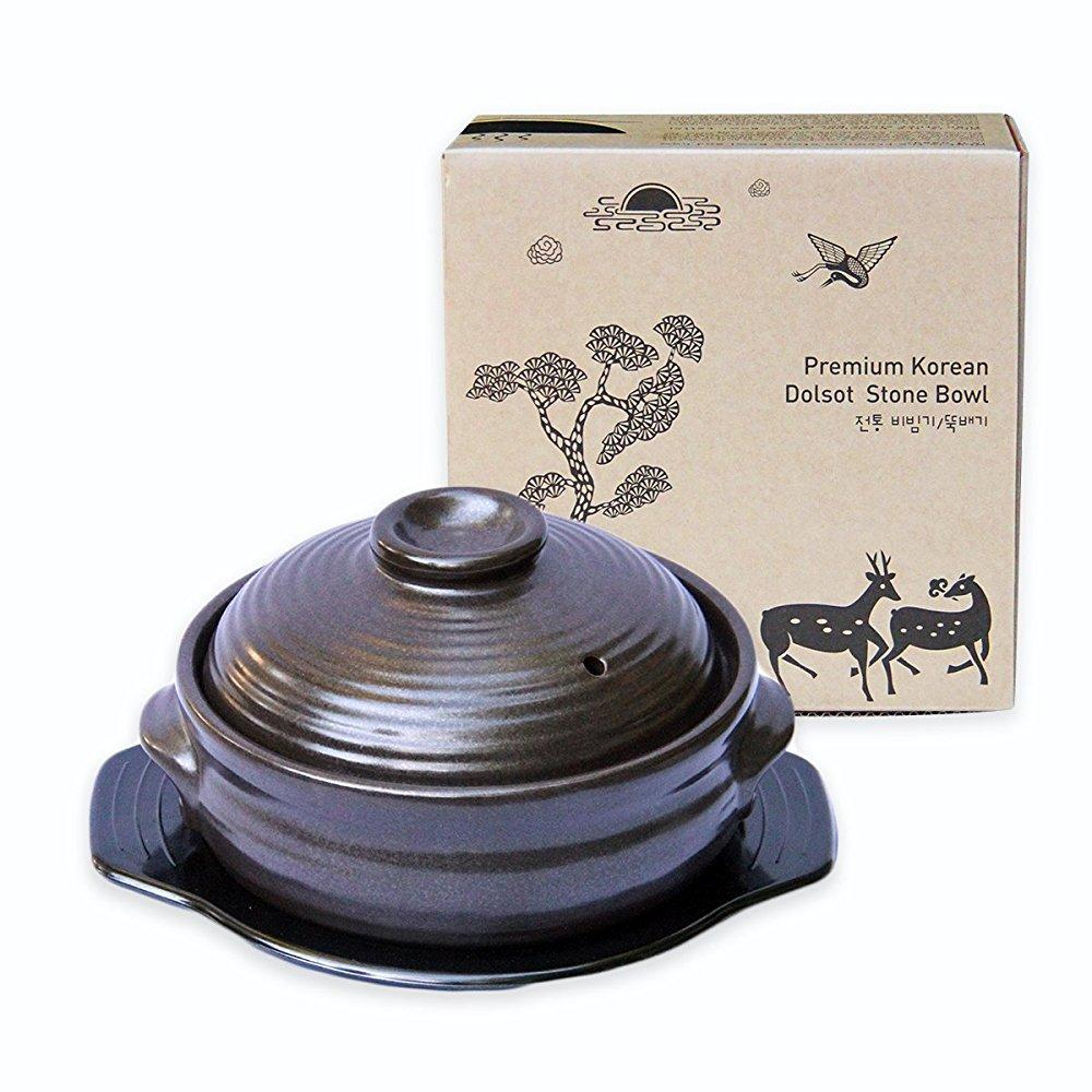 crazy korean cooking korean stone bowl (dolsot), sizzling...