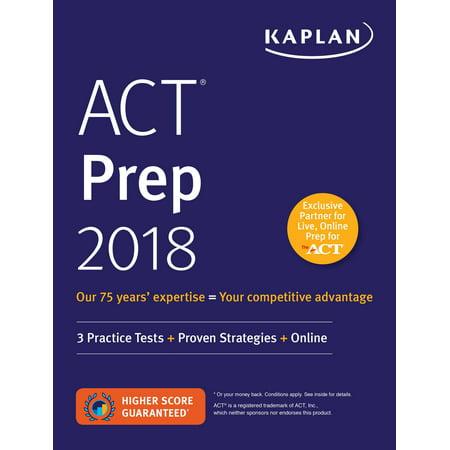 Act Prep 2018   3 Practice Tests   Proven Strategies   Online