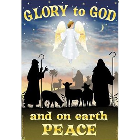 Glory to god garden flag peace on earth angel religious - Discount tire garden of the gods ...