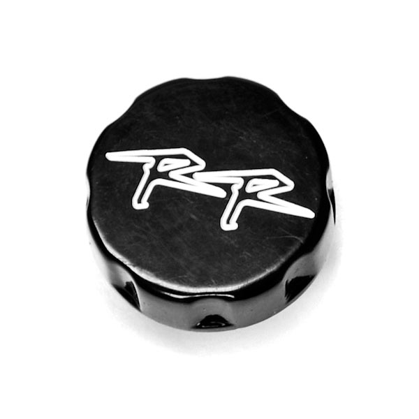 Motorcycle Fluid Black Reservoir Cap Logo Engraved For 2002 Honda CBR 954RR - image 2 of 2