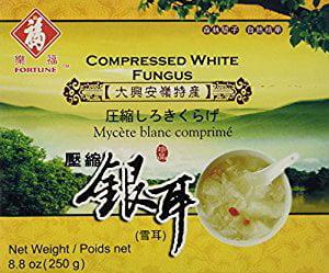 Fortune Compressed Premium Quality White Snow Fungus Mushroom 8.8 Oz (Tremella Fuciformis)... by