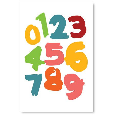 Awkward Styles Baby Nursery Room Decor Ideas Numbers Poster Art for Children Numders Poster Kids Gifts Numbers Printed Art Colorful Poster for Kids Room Decor Numders Poster Picture Kids Decals