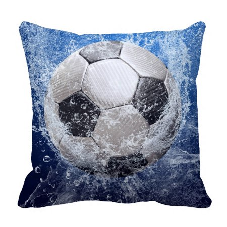 YKCG Water Drops Soccer Ball World Cup Pillowcase Pillow Cushion Case Cover Twin Sides 18x18 inches Combo Cover 30 Inch Drop