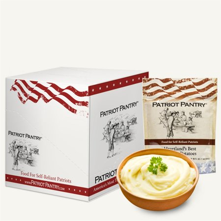 Heartland's Best Mashed Potatoes Mix Case Pack (40 servings) Bulk Emergency Food in Convenient Case Packs, Up to 25-Year Shelf Life - Halloween Mix Monster Mash