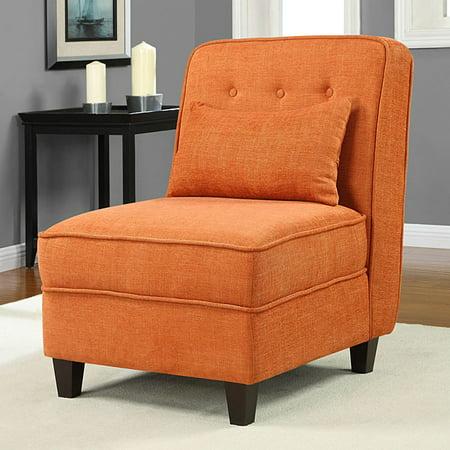 Super Mattie Fiesta Orange Tufted Slipper Chair Walmart Com Bralicious Painted Fabric Chair Ideas Braliciousco