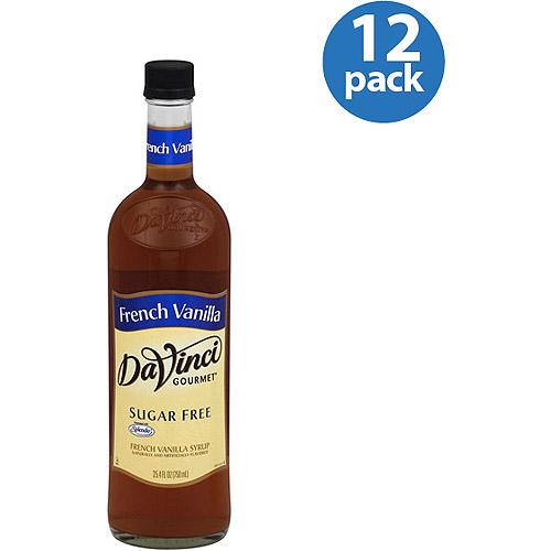 DaVinci Gourmet Sugar Free French Vanilla Classic Syrup, 25.4 fl oz, (Pack of 12)