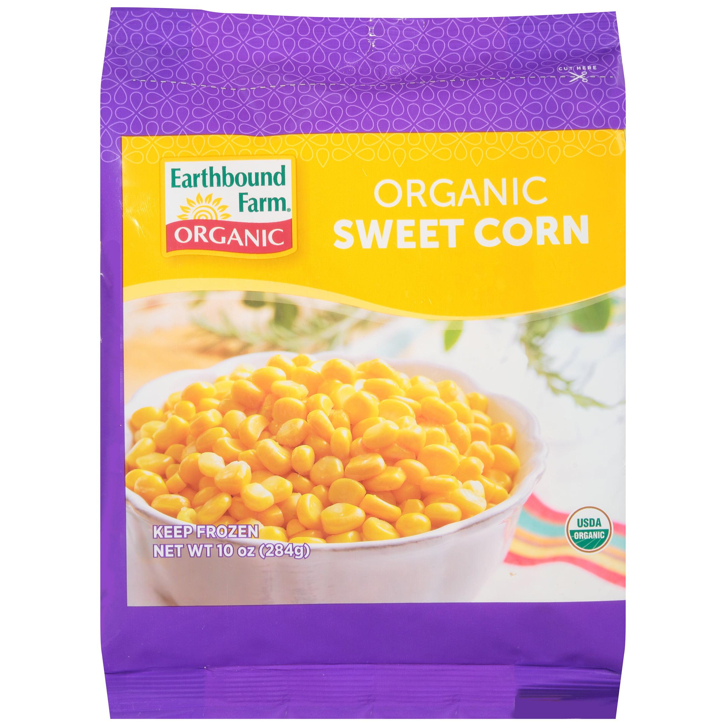 earthbound farm organic sweet corn 10 oz bag walmart com