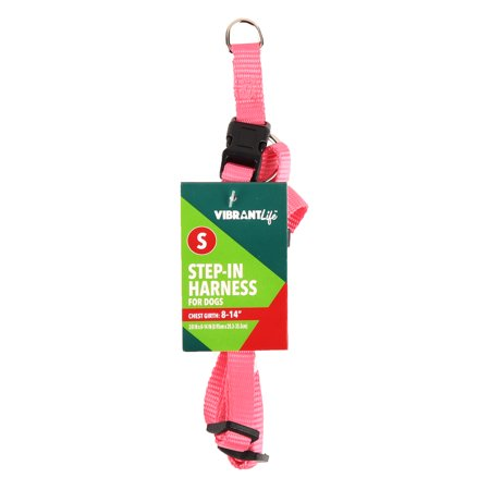 vibrant life step in dog harness pink small. Black Bedroom Furniture Sets. Home Design Ideas