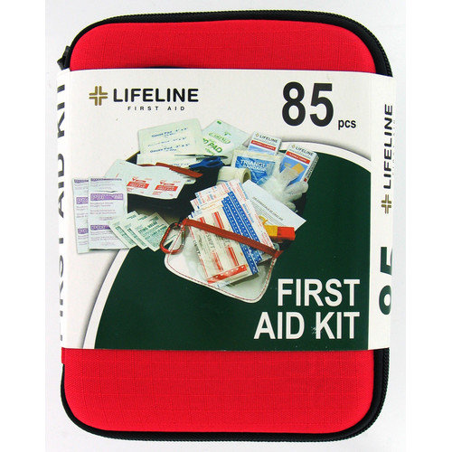 Lifeline First Aid 85 Piece Large Hard Shell First Aid Kit