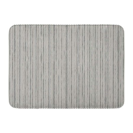 Brush Loop Mat Charcoal - GODPOK Flecked Black Charcoal Abstract Modern Strokes Brushed White Dashed Graphic Rug Doormat Bath Mat 23.6x15.7 inch