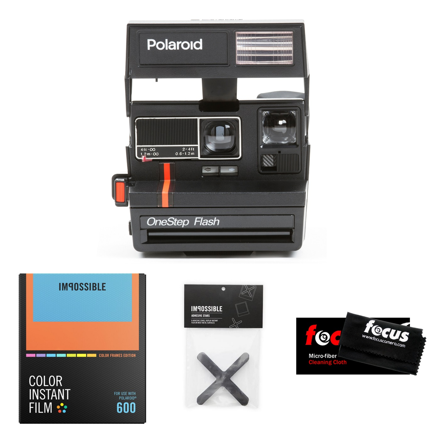 Impossible Project Polaroid 600 Red Stripe Camera w  Color Film ( Manufacturer Refurbished) by The Impossible Project