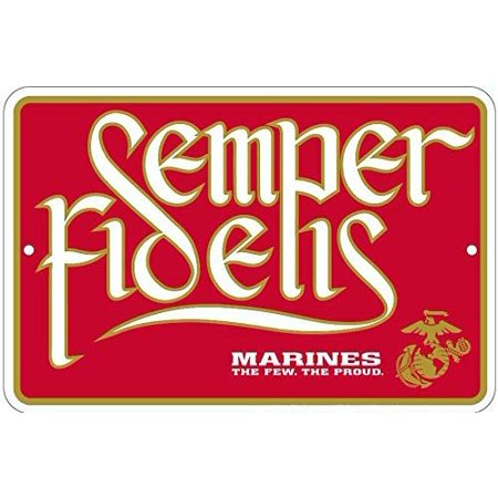 - Country Side Products Semper Fidelis U.S. Marine Corps Metal Sign