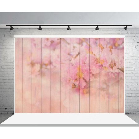 Pink Stripe Background (HelloDecor Polyester 7x5ft Photography Background Painted Pink Flowers Stripes Wood Wall Floor Backdrops Portraits Shooting Studio Props Blur Soft Focus Pink Ch)