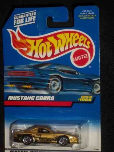 -#1066 Mustang Cobra Gold Collectible Collector Car Mattel 1:64 Scale, Perfect Hot Wheels... by