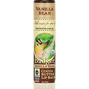 Badger Certified Organic Cocoa Butter Lip Balm Stick Vanilla Bean - 0.25 Oz