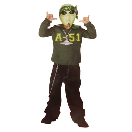 Boys Martian Cool Space Alien Halloween Costume Mask, Top & Medallion M6-8 - Cool Food Ideas For Halloween