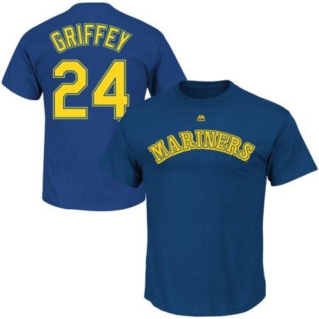 c8c046d4e0 Majestic - majestic men's seattle mariners ken griffey jr. #24 royal  t-shirt - Walmart.com