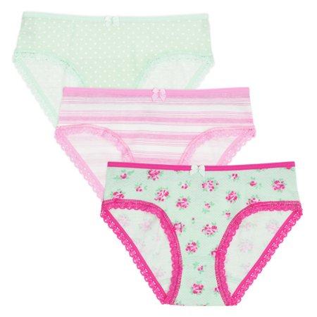 78cf8917a81984 Lucky & Me - Lucky & Me Little Girls Organic Cotton Underwear - Lily  Underwear 3 Pack - Walmart.com
