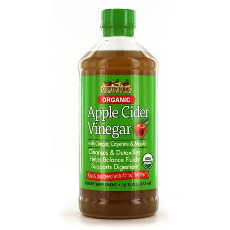 Country Farms Organic Apple Cider Vinegar Drink 16 Oz 32 Servings